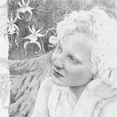 white sketch of women