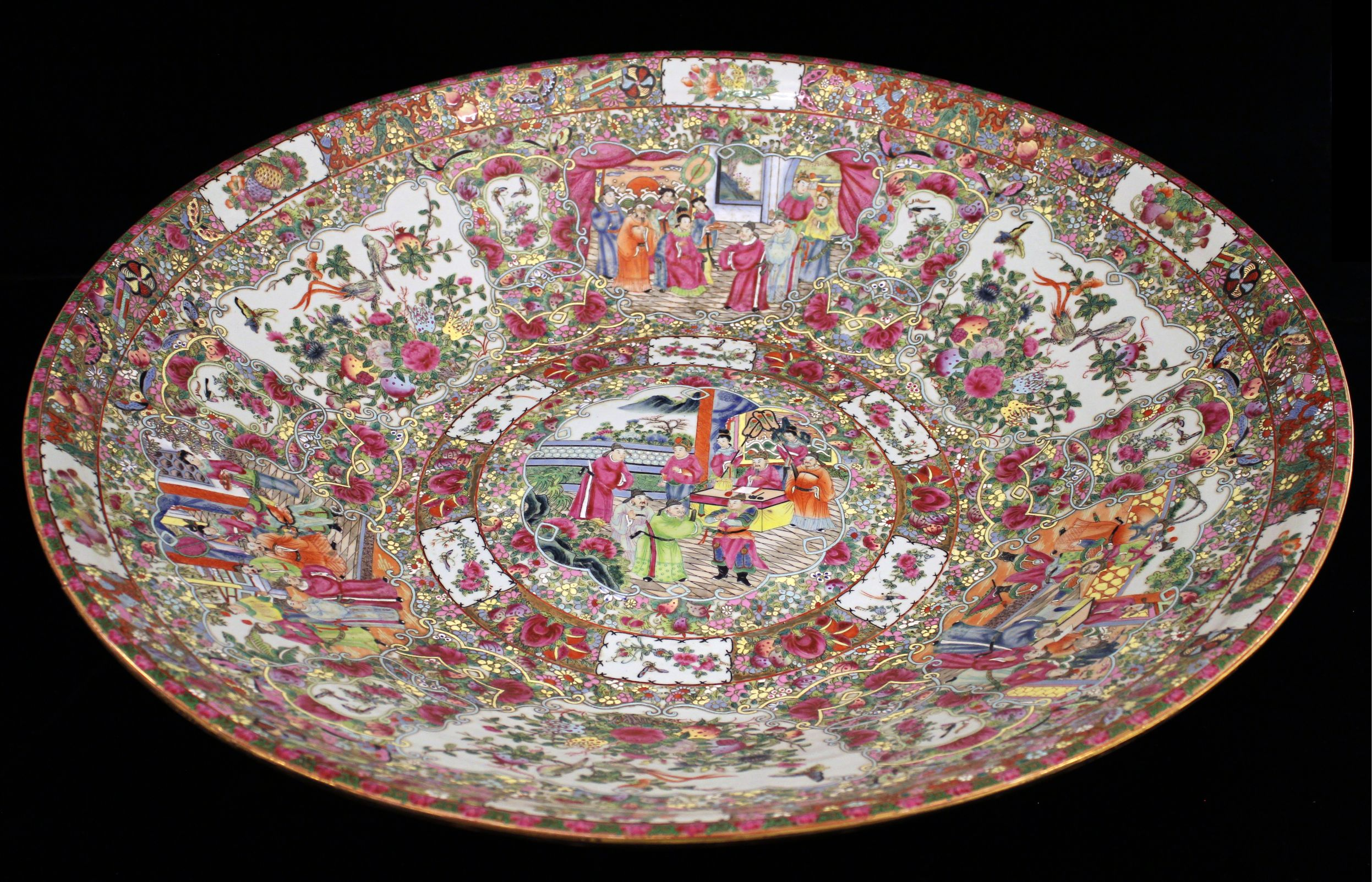 intricate painting on plate