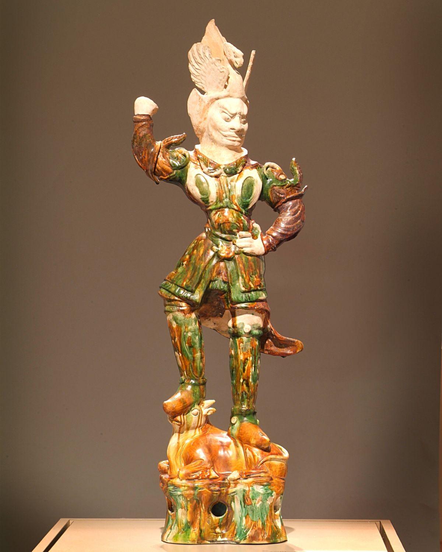 sculpture of man raising fist