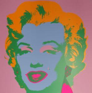Marilyn Monroe contrast painting