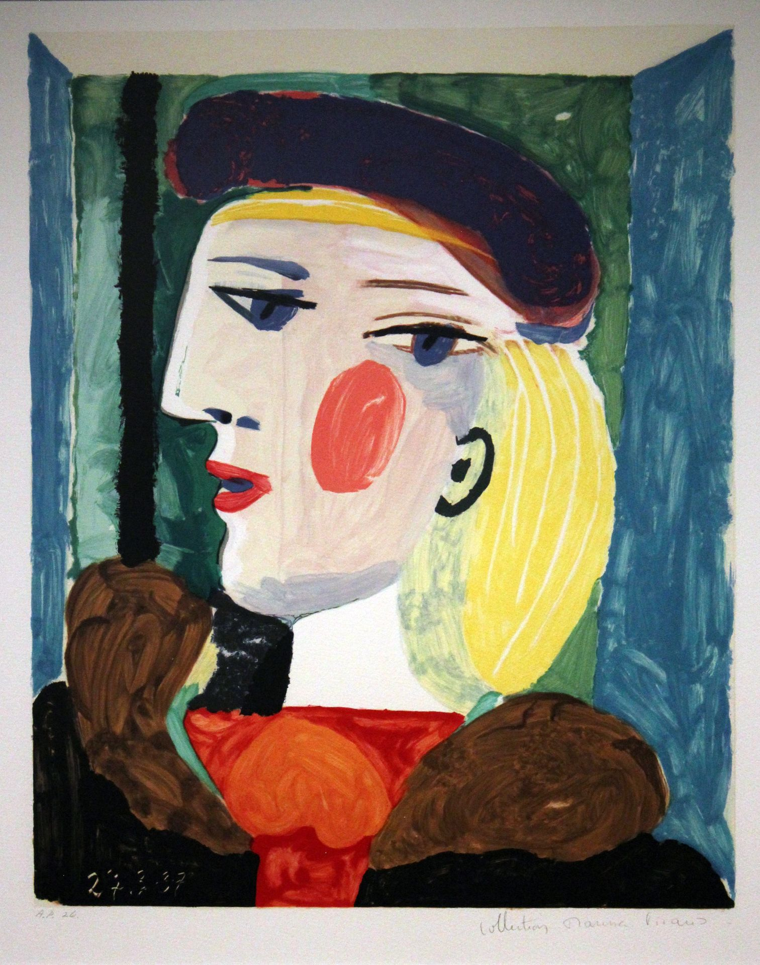 abstract art portatit of face
