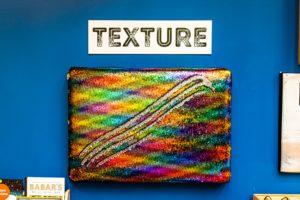 texture sequin wall art