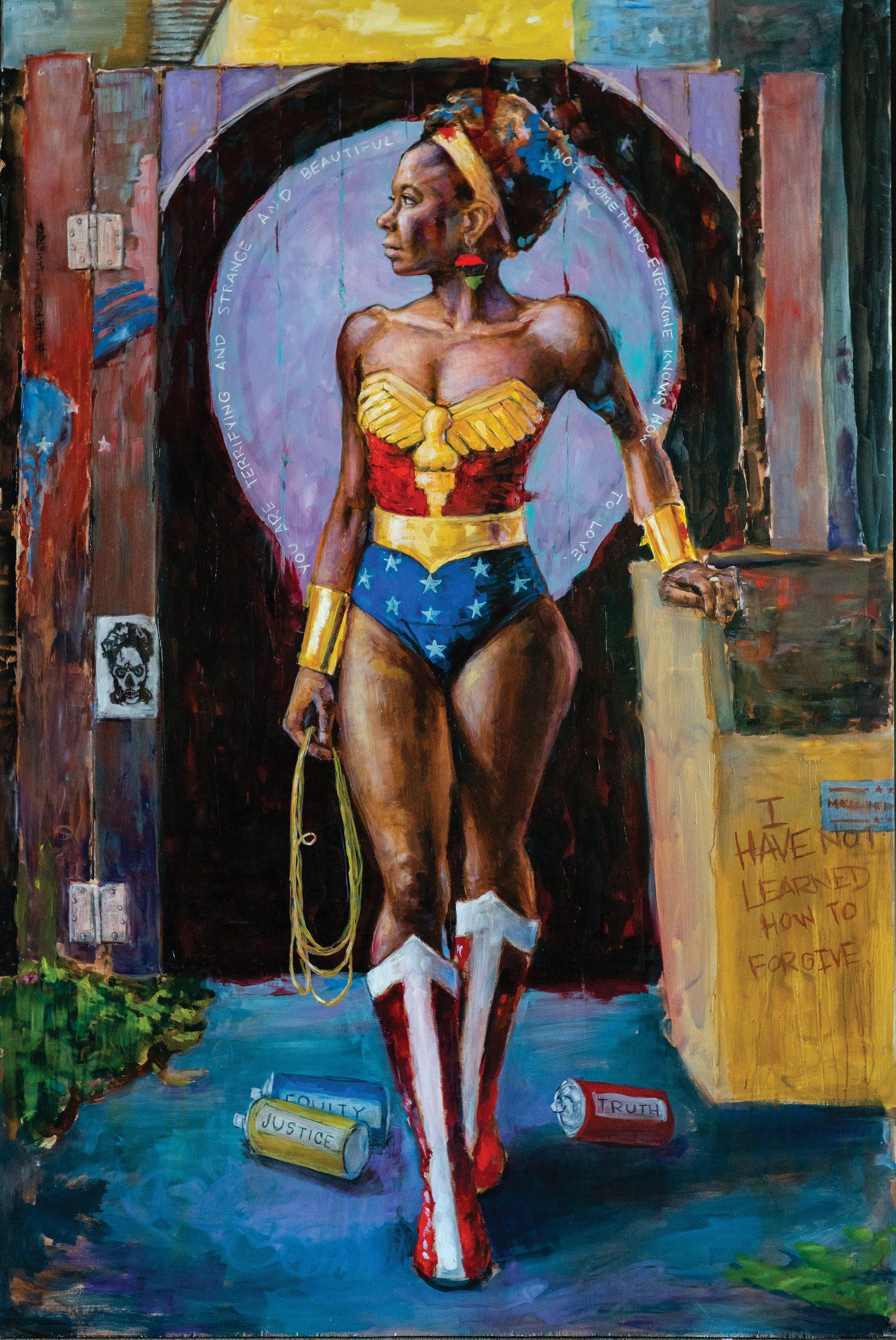 Painting of Wonder Woman by Matthew Bennett