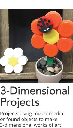Click here for a list of 3-Dimensional art project videos.