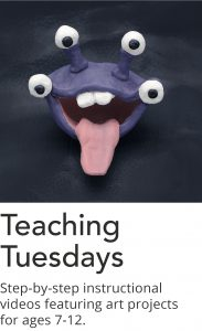 Click here to view category lists of Teaching Tuesday art project videos.