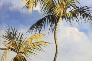 painting of palm trees
